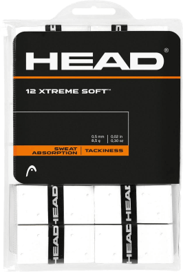 Pack x12 Overgrips Head Xtremesoft Blanco