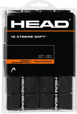Pack x12 Overgrips Head Xtremesoft Negro