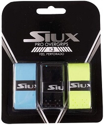 overgrip siux PERFORADO azul amarillo negro pack 3 colores
